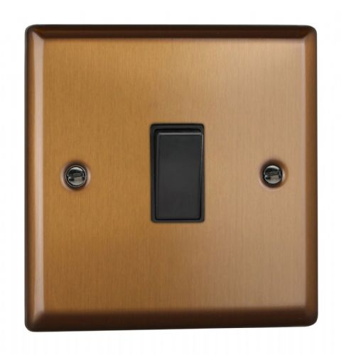 Varilight XY20B.BZ Urban Brushed Bronze 1 Gang 20A Double Pole Switch